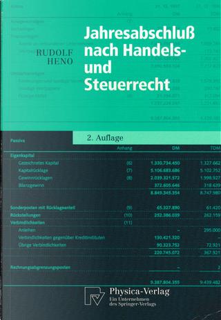 Jahresabschluß nach Handels- und Steuerrecht by Rudolf Heno