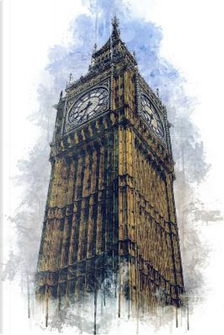 Big Ben Clock Tower in London, England Watercolor Journal by Pen2 Paper