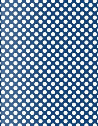 Polka Dots - Navy Blue 101 - Lined Notebook With Margins 8.5x11 by Legacy