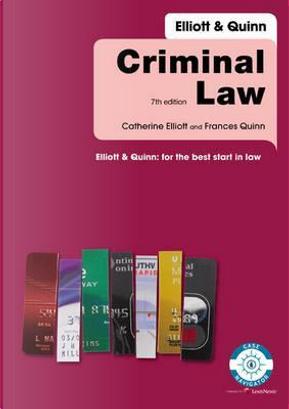 Criminal Law by Catherine Elliott