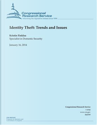 Identity Theft by Congressional Research Service