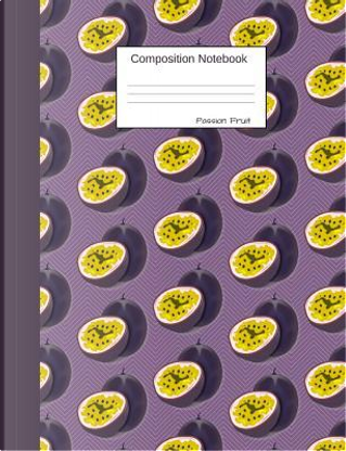 Passion Fruit Composition Notebook by Juicy Fruity