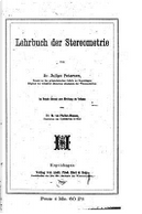 Lehrbuch Der Stereometrie by Julius Petersen