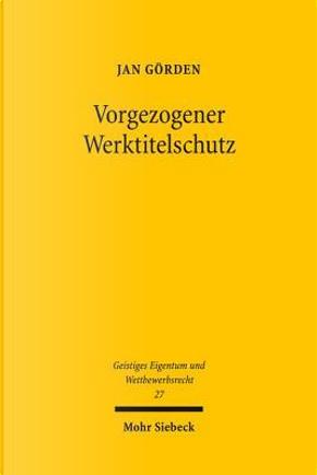 Vorgezogener Werktitelschutz by Jan Gorden