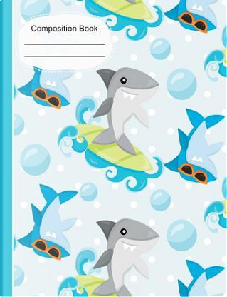 Summer Fun Surfing Sharks Composition Notebook by SLO Treasures