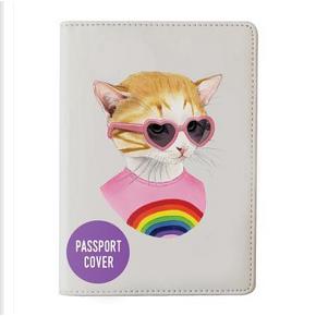Berkley Bestiary Rainbow Kitten Passport Cover by Galison