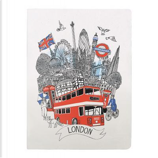 London Handmade Silkscreened Journal by Galison