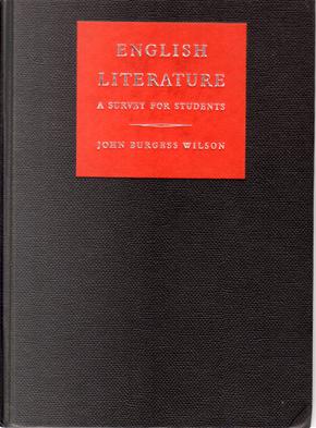 English Literature by John Burgess Wilson