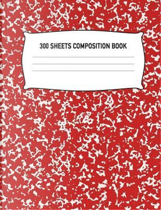 300 Sheets Composition Book by Aguilar Publications