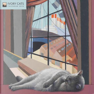 Ivory Cats 2018 Calendar by Flame Tree Studios