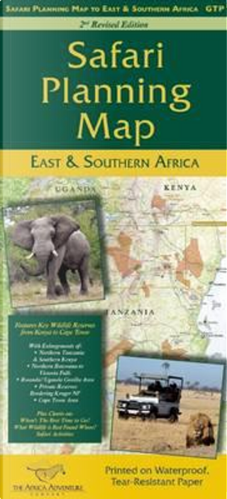 Safari Planning Map East & Southern Africa by Mark W. Nolting