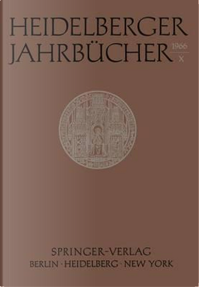 Heidelberger Jahrbucher X by Not Available