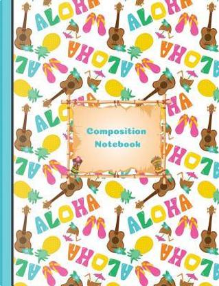 Aloha Hawaiian Summer Vacation Composition Notebook Sketchbook Paper by SLO Treasures