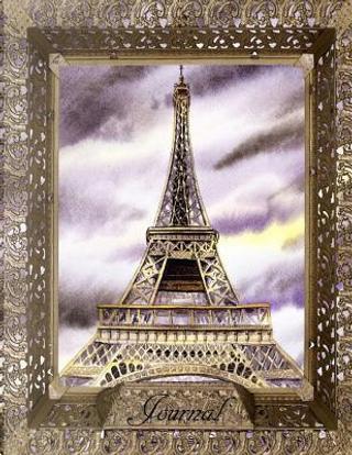Paris Nights Eiffel Tower Journal by Irina Sztukowski