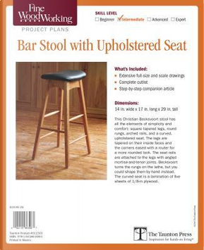 Fine Woodworking Bar Stool With Upholstered Seat Project Plans by Fine Woodworking