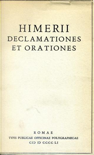 Declamationes et orationes by Imerio
