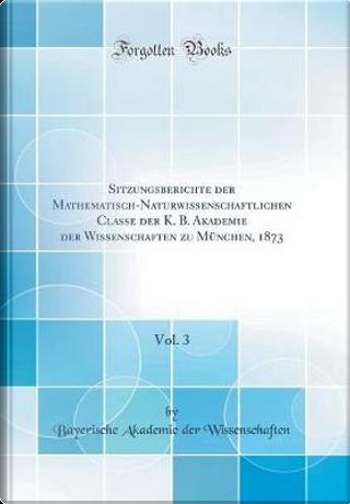 Sitzungsberichte der Mathematisch-Naturwissenschaftlichen Classe der K. B. Akademie der Wissenschaften zu München, 1873, Vol. 3 (Classic Reprint) by Bayerische Akademie der Wissenschaften