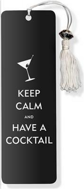 Keep Calm and Have a Cocktail Beaded Bookmark by Peter Pauper Press