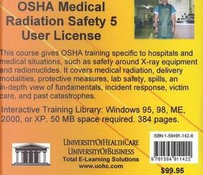 Osha Medical Radiation Safety, 5 Users by Daniel, M.D. Farb