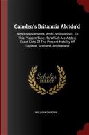 Camden's Britannia Abridg'd by William Camden