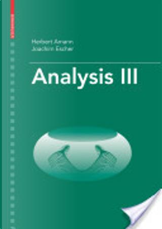 Analysis III by Herbert Amann