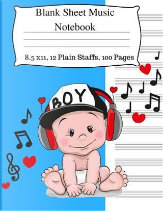 Blank Sheet Music Notebook by Jaz Kiddies Books