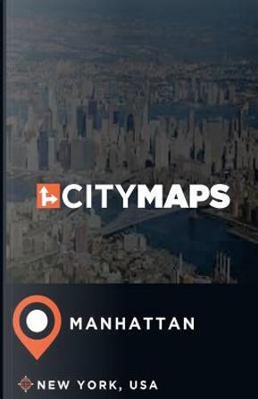 City Maps Manhattan New York, USA by James Mcfee