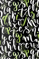 Journal Notebook Sparkly Letters Pattern 2 by Maz Scales