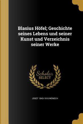 GER-BLASIUS HOFEL GESCHICHTE S by Josef 1843-1916 Wunsch
