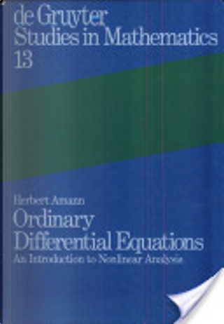 Ordinary differential equations by Herbert Amann