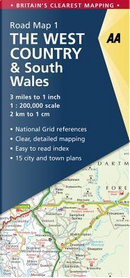 Aa the West Country & South Wales Road Map by Automobile Association (Great Britain)