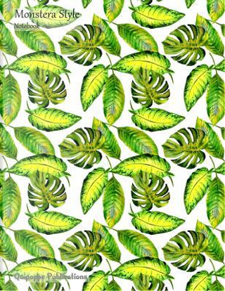Monstera Style Notebook by Quipoppe Publications