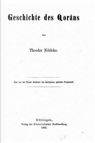Geschichte Des Qorâns by Theodor Nöldeke