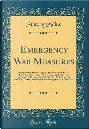 Emergency War Measures by State of Maine