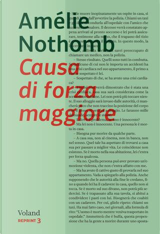 Causa di forza maggiore by Amelie Nothomb
