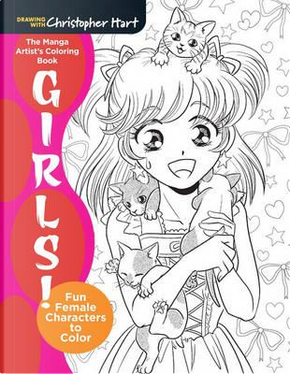 The Manga Artist's Coloring Book by Christopher Hart