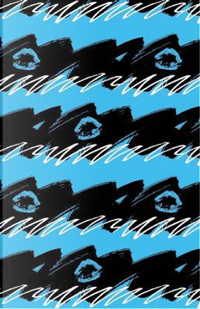 Bullet Journal Blue Lips - Abstract Blue and Black Pattern by Maz Scales