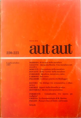 Aut aut n. 220-221 / 1987