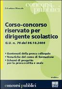 Corso concorso riservato per dirigente scolastico by Sebastiano Moncada