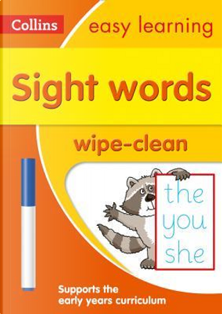 Sight Words Age 3-5 Wipe Clean Activity Book (Collins Easy Learning Preschool) by Collins Easy Learning