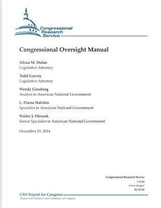 Congressional Oversight Manual by Congressional Research Service