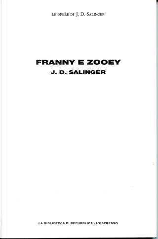 Franny e Zooey by J.D. Salinger