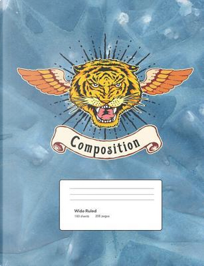 Tiger Composition Book Wide Ruled by Cricket Creek Journals
