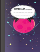 Composition Notebook Abstract Pink Moon by Jason Patel