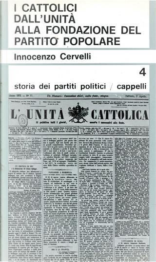 I cattolici dall'Unità alla fondazione del Partito popolare by Innocenzo Cervelli