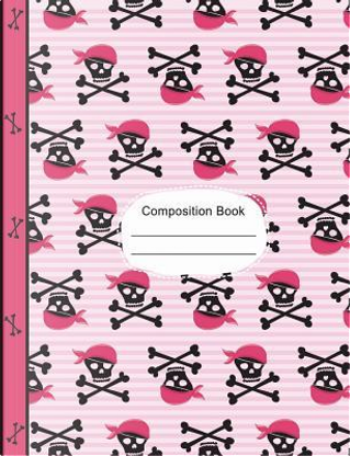 Pirate Girl Skulls and Bones Composition Notebook Dot Grid Paper by SLO Treasures