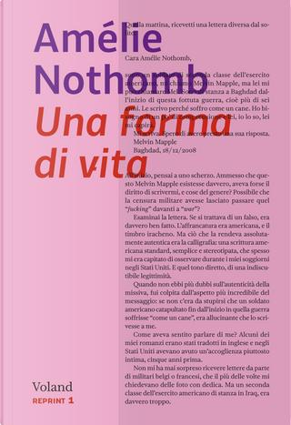 Una forma di vita by Amelie Nothomb