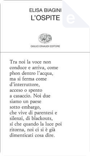L'ospite by Elisa Biagini