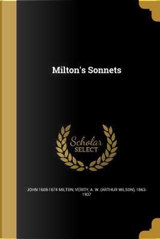 MILTONS SONNETS by John 1608-1674 Milton