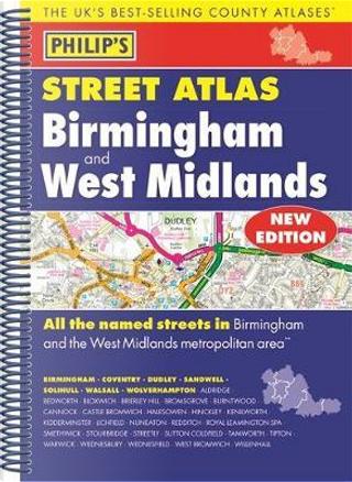 Philip's Street Atlas Birmingham and West Midlands by PHILIPS